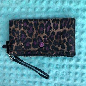 Coach Leopard Print Wallet/Wristlet